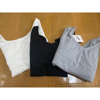 アナップキッズ(ANAP Kids)のANAP.タグ付き.リブ素材トップス3枚セット.Tシャツ(Tシャツ(長袖/七分))