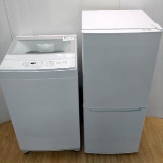 ニトリ(ニトリ)の冷蔵庫 洗濯機 シンプルデザイン ホワイト ガラストップ ニトリセット(冷蔵庫)