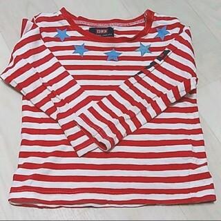エドウィン(EDWIN)の⭐ ボーダーTシャツ(赤×白) 95サイズ(Tシャツ/カットソー)
