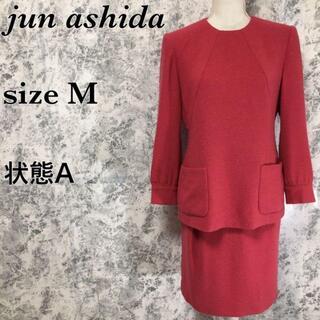 ジュンアシダ(jun ashida)のジュンアシダ ノーカラー カットソー タイトスカート 式典 セレモニースーツ(スーツ)