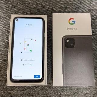グーグル(Google)のSimフリー Google Pixel 4a  JustBlack 128GB (スマートフォン本体)