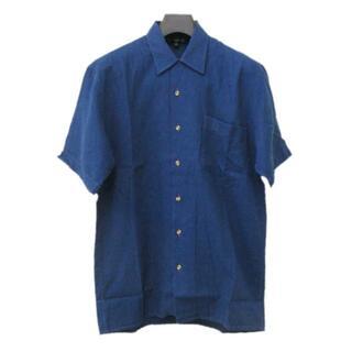 ダンヒル(Dunhill)の送無■程度良好【ダンヒル】半袖シャツ メンズ イタリア製 ブルー M相当(シャツ)