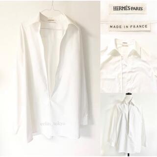 エルメス(Hermes)のHERMES マルジェラ期 ヴァルーズ スキッパー シャツ 34 E2760(シャツ/ブラウス(長袖/七分))