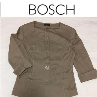 ボッシュ(BOSCH)のBOSCH ノーカラージャケット  コットン カーディガン代わりにも(ノーカラージャケット)