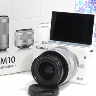 Nikon - 極美品❤️Canon EOS M10❤️Wi-Fi機能搭載❤️初心者おすすめ❤