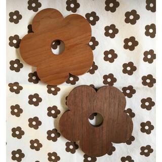 マリメッコ(marimekko)のビヨルク クッカ KUKKA お花コースター2枚セット(キッチン小物)