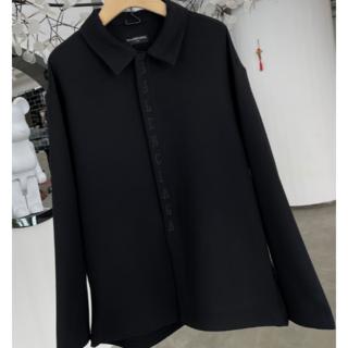 Balenciaga - //BALENCIAGA //バレンシアガ 黒  刺繍  ロゴ ジャケット M