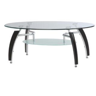 新品 送料込 ガラスセンターテーブル ローテーブル アーク ブラウン(ローテーブル)