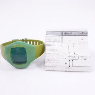 シチズン(CITIZEN)の■シチズン デジタル腕時計 緑 メンズ(腕時計(デジタル))
