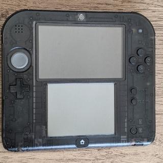 ニンテンドー2DS - nintendo 2ds スケルトン クリアブラック おまけ新品SD4Gつき