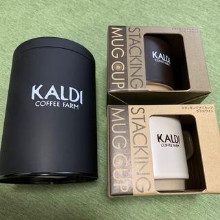 カルディ(KALDI)の新品未使用 カルディ マグカップ+キャニスター缶 セット(グラス/カップ)