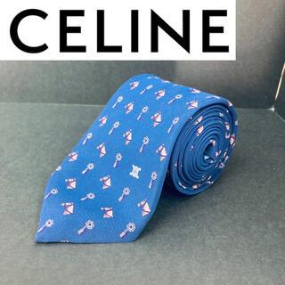 celine - CELINE/セリーヌ ネクタイ ブルー