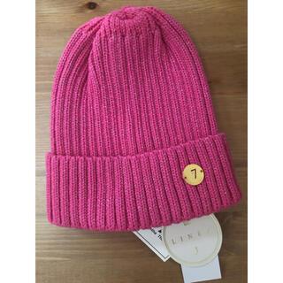 サマンサタバサ(Samantha Thavasa)のサマンサタバサ  ゴルフ ニット帽 ピンク 新品(ニット帽/ビーニー)