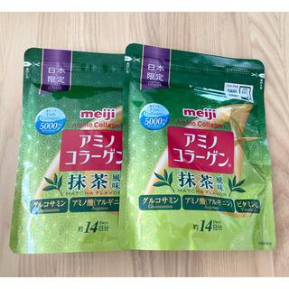 明治 - 2袋 meiji 明治 アミノコラーゲン 抹茶風味 アミコラ