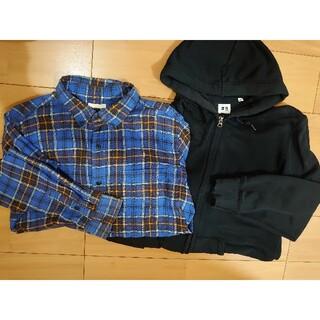 ユニクロ(UNIQLO)のユニクロ パーカー、GU ネルシャツ XLセット(パーカー)