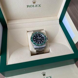 ロレックス(ROLEX)の出品③ 国内直営店購入 ROLEX サブマリーナ グリーン 126610LV(腕時計(アナログ))