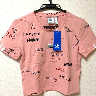 アディダス(adidas)のアディダスオリジナル Tシャツ ピンク レディース 新品 adidas(Tシャツ(半袖/袖なし))