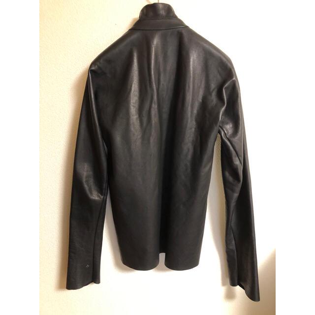 Carol Christian Poell(キャロルクリスチャンポエル)のエムエークロス ジッパーレザーシャツ メンズのジャケット/アウター(レザージャケット)の商品写真