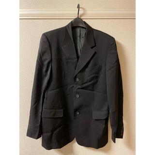ジャンニヴェルサーチ(Gianni Versace)のジャンニ ヴェルサーチ ジャケット テーラード スーツ 黒 ブラック 50(テーラードジャケット)