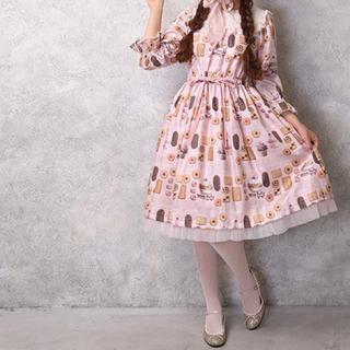 ルルゲッタ(Leur Getter)のBasのお菓子屋さんヨークワンピース pink(ひざ丈ワンピース)