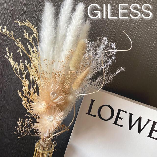 m*パンパスグラス テールリード ミルクティベージュ シルバーデイジー スワッグ ハンドメイドのフラワー/ガーデン(ドライフラワー)の商品写真