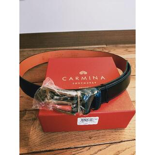 ジョンロブ(JOHN LOBB)の未使用 送料無料 carmina カルミーナ コードバン ベルト 袋 箱付き(ベルト)