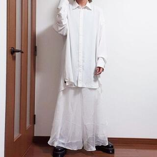 ルグランブルー(LGB)のワイドパンツ シフォン スカート ガウチョパンツ サルエルパンツ 白(サルエルパンツ)