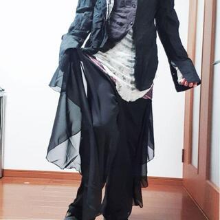 ルグランブルー(LGB)のワイドパンツ シフォン スカート ガウチョパンツ サルエルパンツ 黒(サルエルパンツ)