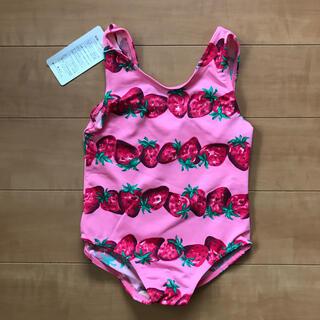Shirley Temple - シャーリー 95cm 水着 ピンク いちご柄