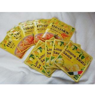 KALDI 塩レモンパスタソース 5袋と、瀬戸内海老レモンパスタソース 5袋