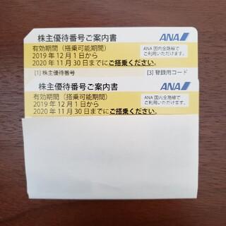 エーエヌエー(ゼンニッポンクウユ)(ANA(全日本空輸))のANA株主優待券2枚(2021年5月31日まで有効)(航空券)