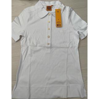 トリーバーチ(Tory Burch)のトリーバーチ  ポロシャツ 白 M 新品未使用(ポロシャツ)