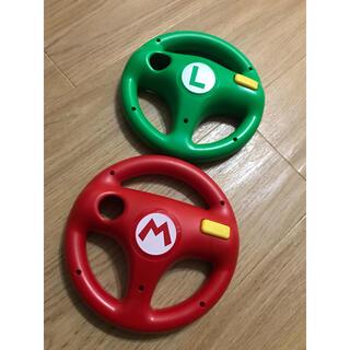 Wii - Wii ハンドル ×2 マリオ ルイージ
