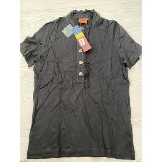 トリーバーチ(Tory Burch)のトリーバーチ  ポロシャツ 黒 Mサイズ 新品未使用(ポロシャツ)