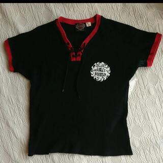 ハーレーダビッドソン(Harley Davidson)のVintage ハーレーダビッドソン ワッフル Tシャツ レースアップ サーマル(Tシャツ(半袖/袖なし))