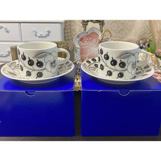 アラビア(ARABIA)の【希少 旧ロゴ】アラビア ARABIA  パラティッシカップ&ソーサー(グラス/カップ)