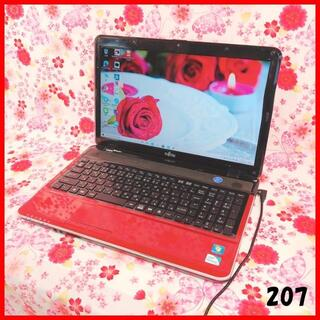 フジツウ(富士通)のノートパソコン本体♪Corei5♪新品SSD♪Webカメラ♪オフィス♪Win10(ノートPC)