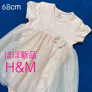 H&M - H&M★ベビードレス/ロンパース/リボン/シフォン/ワンピース/女の子/記念日
