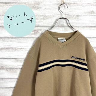 UMBRO - 【入手困難】90s アンブロ ベージュ 刺繍ロゴ ワンポイント スウェット