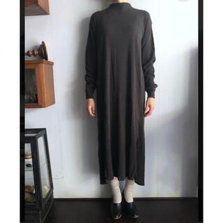 ヤエカ(YAECA)の【unfil】アンフィル ローシルクリブジャージーTシャツドレス(ロングワンピース/マキシワンピース)