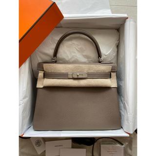 エルメス(Hermes)のH.A様専用。エルメス ケリー28  エトゥープ トゴ 内縫い SV金具①(ハンドバッグ)