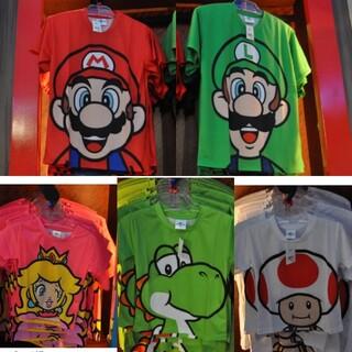 ユニバ USJ限定 マリオ、クッパ、キノピオ、ヨッシー、ルイージ、ピーチ姫(Tシャツ(半袖/袖なし))