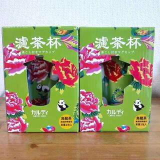 カルディ(KALDI)のペア新品未開封 カルディ 台湾フェア 茶こし付きマグカップ パンダ(食器)