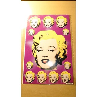 アンディウォーホル(Andy Warhol)の【マリリンモンロー】 アンディウォーホル シールシート(アート/エンタメ/ホビー)