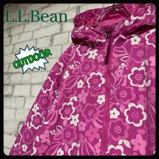 エルエルビーン(L.L.Bean)の【花柄】L.L.Bean エルエルビーン/ナイロンジャケット ブルゾン フード(ナイロンジャケット)