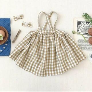 Caramel baby&child  - soor ploom Eloise Pinafore, Gingham - 5Y