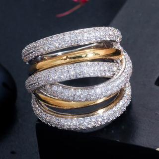 SWAROVSKI - 高品質 キラキラスワロフスキーgemクリスタルたっぷりリング指輪