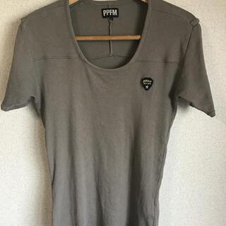 ピーピーエフエム(PPFM)のPPFM Tシャツ 半袖 オリーブグリーン(Tシャツ/カットソー(半袖/袖なし))