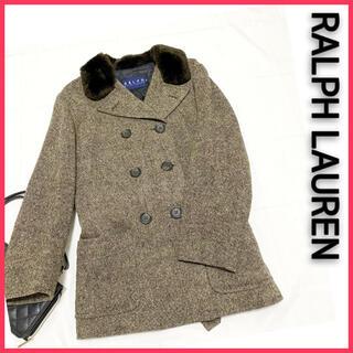 Ralph Lauren - お値下げ中! サイズ9 ラルフローレン Pコート 茶系 ブラウン系 レディース
