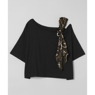 ジーナシス(JEANASIS)のJEANASIS ショルダースカーフアシメTEE(Tシャツ(半袖/袖なし))